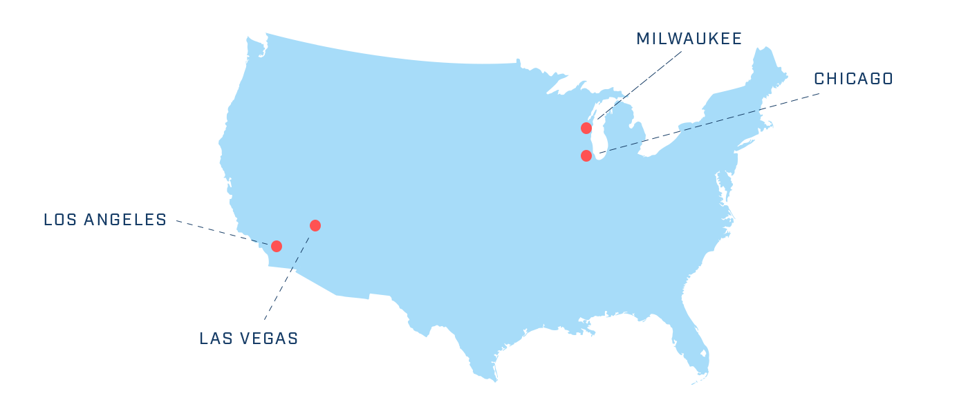 Map of Cardinal Locations